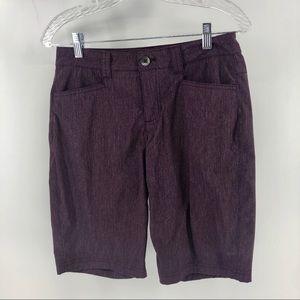Eddie Bauer Plum Nylon Polyester Bermuda Shorts